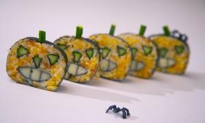 Recetas japonesas: Maki sushi para Halloween