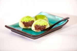 Recetas japonesas: Daifuku mochi con anko y crema de té verde