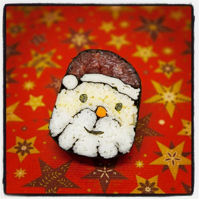 Recetas japonesas: Como preparar Maki Sushi de Papá Noel | Taka Sasaki